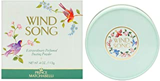 Prince Matchabelli Wind Song By PRINCE MATCHABELLI For Women 4 oz Dusting Powder, white