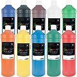 Malverk Junior - Gouache Farben Set 10 x 1 Liter -