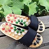 TONGTONG Zapatos de masaje para hombre Toboganes adoquines Accupressure pie interior medicina china pedicura acupoint salud plana zapatillas