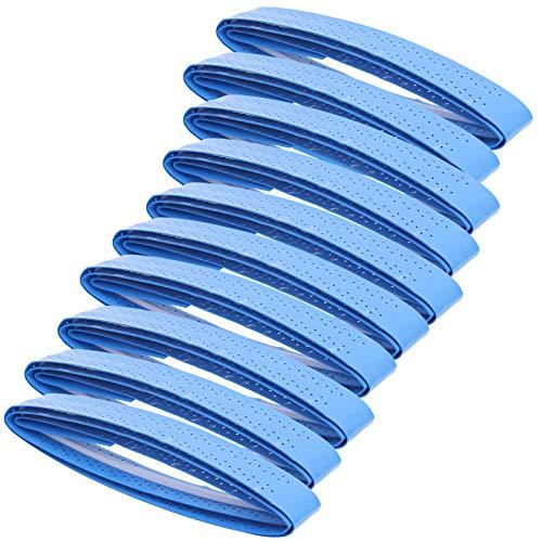 Brrnoo Overgrip - Raqueta de bádminton con banda transpirable perforada para mango de caña de pescar para raqueta de bádminton (azul)