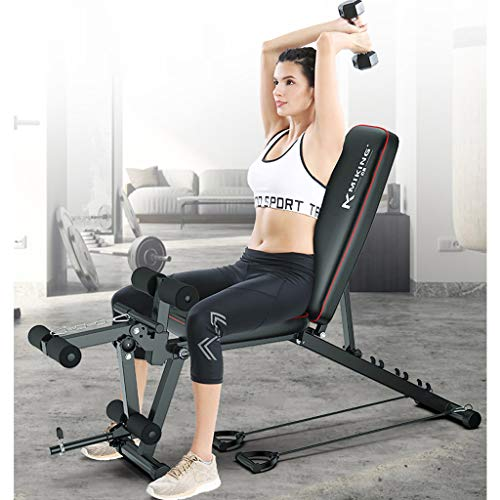 GJXJY Banco Manubri Panca Allenamento Regolabile, Multifunzione Panca Fitness Panchina Peso con Leg Extension E Leg Curl, Posizioni Regolabili Panca for Full Body Workout