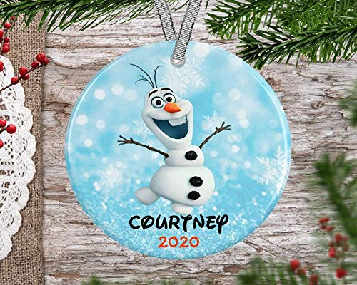 Lplpol Olaf Frozen Christmas Ornament-Frozen Christmas Ornament-Kids Christmas Ornament-Olaf Frozen Keepsake-Frozen Personalized Ornament