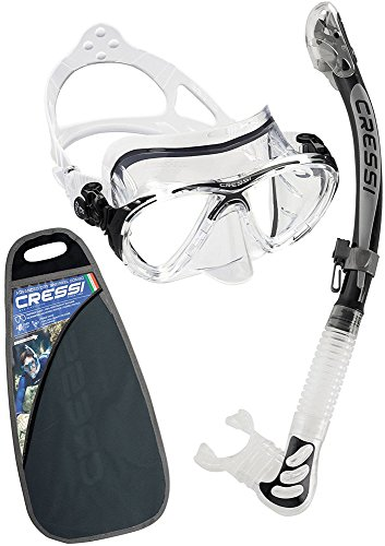 Cressi Big Eyes Evolution & Alpha Ultra Dry Professional Combo, Set per Immersioni e Snorkelling Unisex – Adulto, Trasparente/Nero