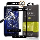 Ycloud [2 Pack Protector de Pantalla para ASUS Zenfone 3 ZE552KL (5.5pulgada) [Cobertura Completa] Vidrio Templado Screen Protector (Negro)