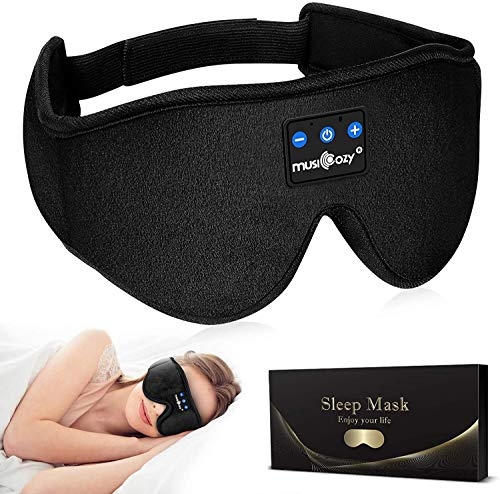 MUSICOZY Sleep Headphones Bluetooth Headband Sleeping Headphones Sleep Mask, Noise Cancelling Headphones Sleep Earbuds Office Travel for Men Women Cool Tech Gadgets Unique Gifts Boys Girls