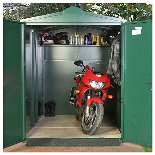 Asgard 9x5 Centurion Secure Motorcycle Storage Shed Brown