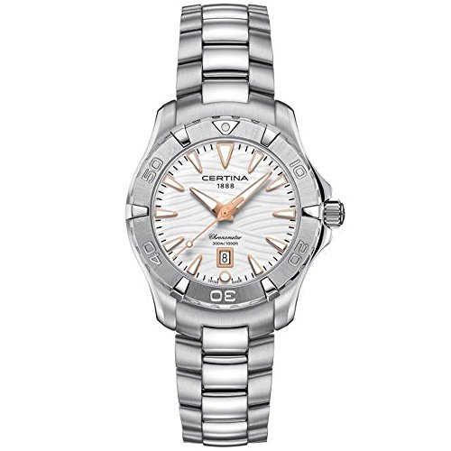 Certina DS Action Damen-Armbanduhr 34,3 mm Stahlgehäuse Quarz C032.251.11.011.01