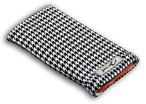 Norrun Handytasche / Handyhülle # Modell Audrey # ersetzt die Handy-Tasche von Hersteller / Modell TCM (Tchibo) Klapp-Handy 206 # maßgeschneidert # mit einseitig eingenähtem Strahlenschutz gegen Elektro-Smog # Mikrofasereinlage # Made in Germany
