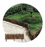 JIANFEI-Valla de jardín Valla De Madera, Al Aire Libre Jardín Césped Paisaje Decoración, Animal Barrera Borde, Extensible 9 Tamaños (Size : 70X120CM)