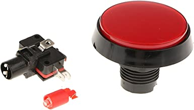 kesoto 60 Mm Big Round Shape Led Illuminated Push Button For Large Machinery Arcade Game Video Player 12V Lamp Switch - Red