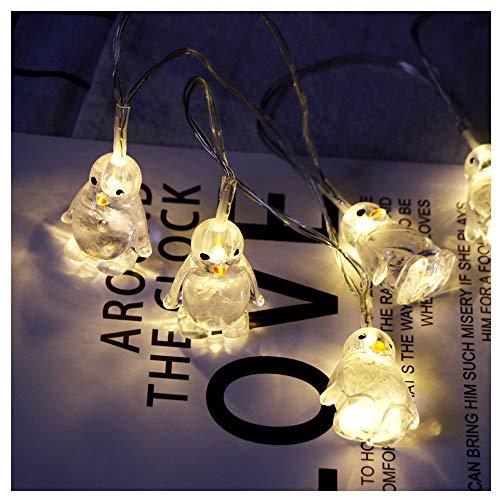 LED Pinguin Tierform Lichterketten Nachtlicht Zeichen Licht Dekor Schlafzimmer Wohnzimmer Garten Straße Dekoratives Licht Urlaub Beleuchtung (Gelb)