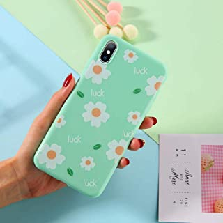 GUYISJK Cover Iphone,White Flower Beautiful Minimalist Pattern For Iphone 6 6S 6Plus 7 7Plus 8 8Plus X Xs Xr Xs Maxsoft Tpu Silicone Back Cover,For Iphone 7/8