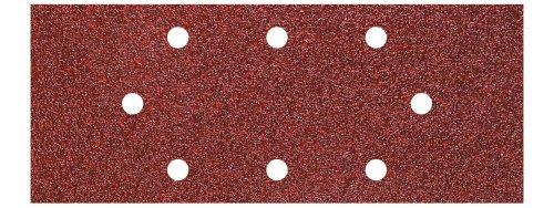 Wolfcraft 8409000 (L) hojas de lija de corindón, grano 40,80,120 perforadas PACK 15, plata, Set Piezas