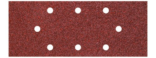 Wolfcraft 8409000 8409000-15 Patines de Lija de corindón, Grano 40,80,120 Perforadas para AEG, Black & Decker, Bosch, Casals, Einhell, Peugeot, plata, Set de 15 Piezas