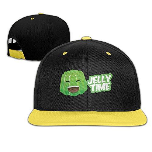 Kids Jelly Time Falt Hat Snapback Baseball Cap Yellow