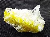 ALCHIMIA - Minerali pietra grezza Celestina e Zolfo gr.34 provenienza Sicilia