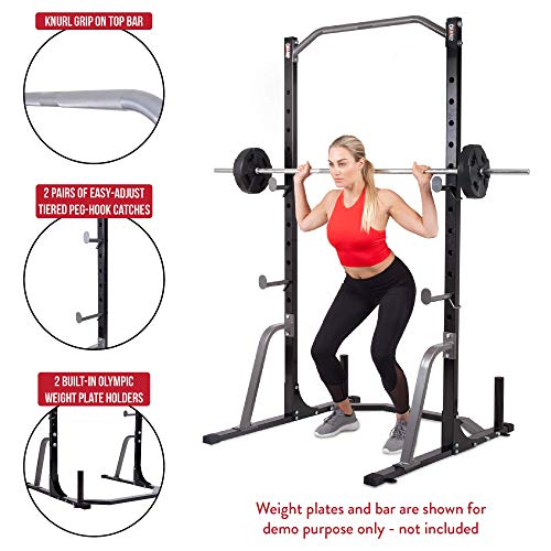 Body Flex Sports Body Champ Power Rack System, Weight and Bar Holder for Home Fitness Equipment