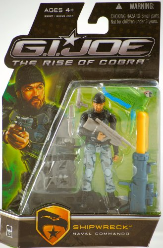 G.I. Joe The Rise of Cobra 3 3/4' Action Figure Shipwreck Naval Commando