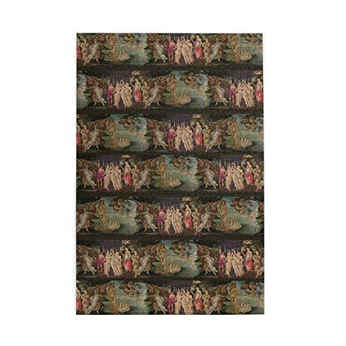 Rompecabezas para adultos y niños Botticelli Nacimiento de Venus y Primavera con rayas, 1000 piezas de madera Puzzle Art 29,5 x 50,3 cm, versión vertical