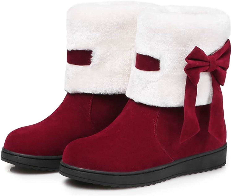 Woherrar Woherrar Woherrar Ankle Boot s Plush Lining Mode Varma damskor Bowknop Söta kvinnor vinterstövlar  autentisk kvalitet
