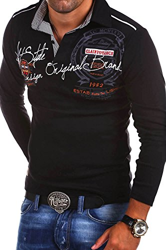 MT Styles Langarm Poloshirt Ambition T-Shirt R-0682 [Schwarz, XL]