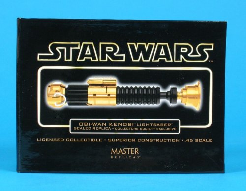 Star Wars Master Replicas Collectors Society EXCLUSIVE 0.45 Scaled Lightsaber Replica GOLD - OBI WAN KENOBI - Very Rare
