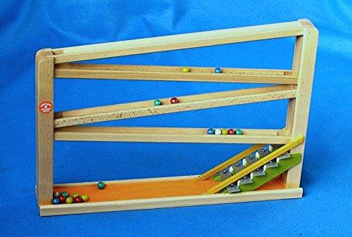 Beck 44,5x 30,5cm Marmor Achterbahn mit Chimes (orange)