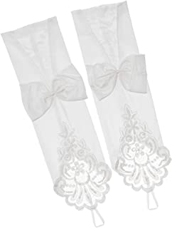 Blesiya Fingerless Lace Wedding Gloves With Women's Bowknot Party Gloves