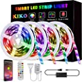 LED Strip Lights,65.6ft 20m 4X16.4ft Ultra-Long KIKO Smart Led Lights SMD 5050 RGB Color Changing Rope Lights with Bluetooth Controller Sync to Music Apply for TV,Bedroom,Party and Home Decoration