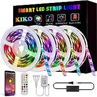 LED Light Strip, KIKO Led Strip Smart Color Changing Rope Lights 65.6ft SMD 5050 RGB Light Strips with Bluetooth...