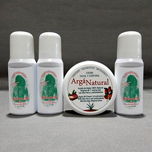 Sindólor Gel. Promoción, 3 Sindólor + 1 Crema Facial Con Aceite De Argán