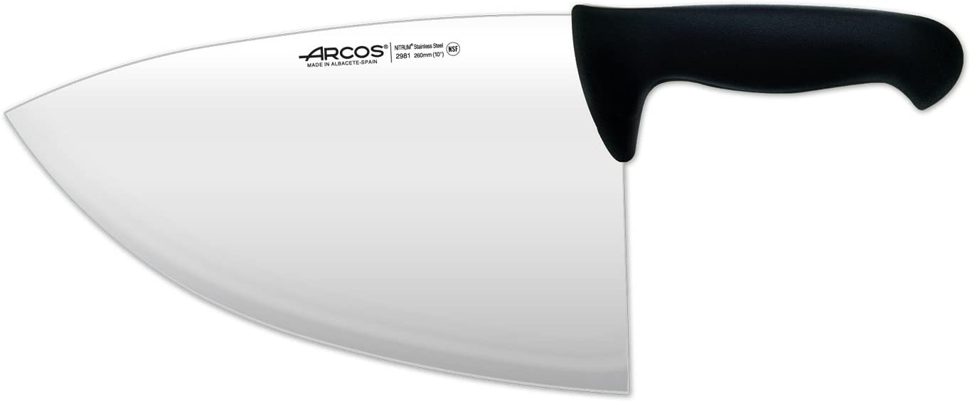 Arcos 10-Inch 260 Ultra-Cheap Deals mm 680 Lowest price challenge Range gm 2900 Black Cleaver