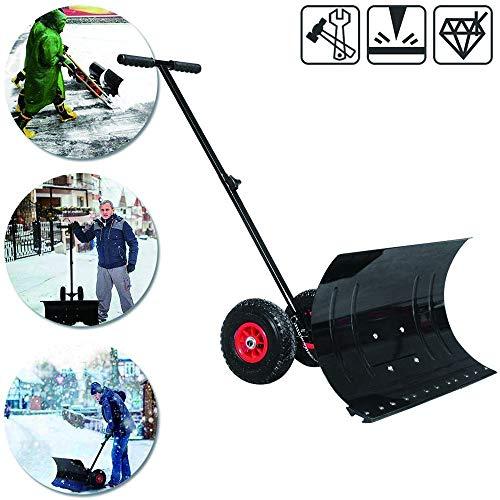 CheChe-nh Einstellbare Schneeschieber mit Rädern Hochleistungs-Schneerollschaufeln Effizientes Schneeräumwerkzeug für Schneepflüge
