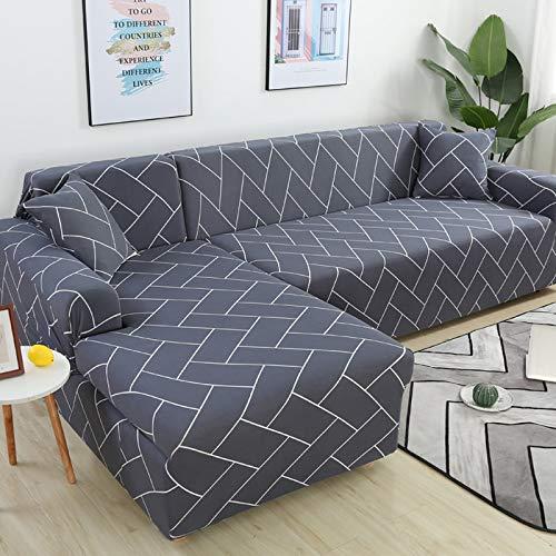 WXQY Fundas elásticas elásticas Antideslizantes Funda de sofá para Mascotas Funda de sofá Esquina en Forma de L Funda de sofá Antideslizante A8 2 plazas