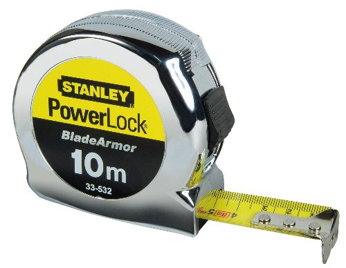 Stanley 0-33-532 10m Micro Powerlock Tape with Blade Armor