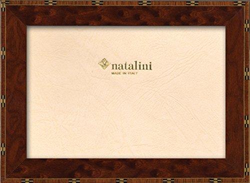 Natalini Marquetry fotoram tillverkad i Italien, tulpanträ, elm, 15 cm x 15 cm