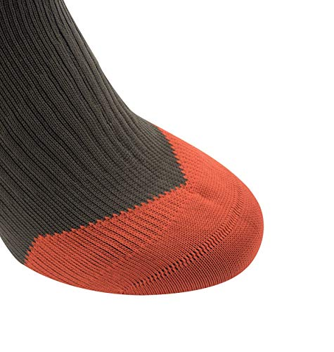 SEALSKINZ MTB Mid Sock + Hydrostop Black/Charcoal/Anthracite, S - Men's