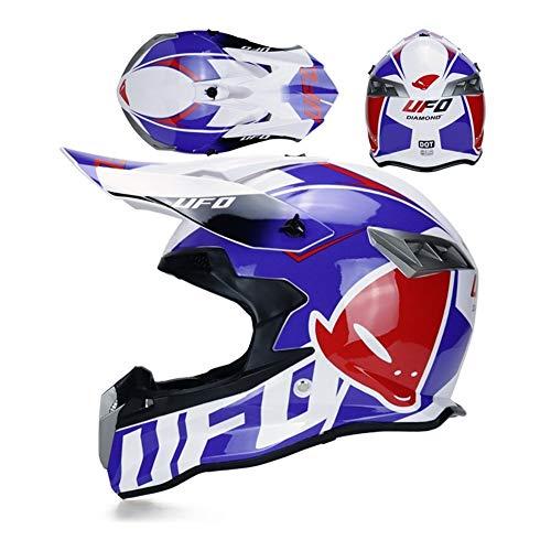Henanyimeixiang Casco de motocross Casco de carretera Capacete Cross Downhill Moto MTB ATV DH Kask para cascos de motocicleta Mountain Dirt Bike (color: 2b, tamaño: M)