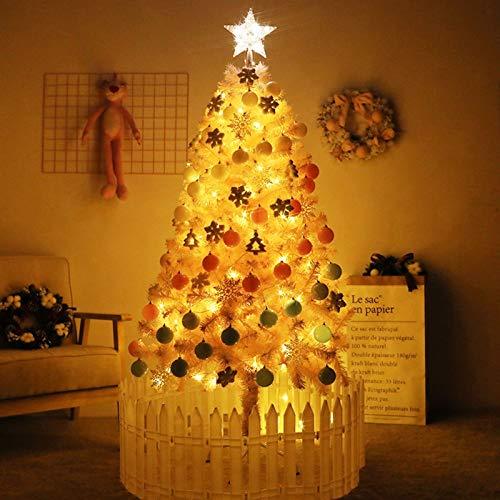 GUOMMEI PVC Materiale affollamento Christmas Tree Encrypted Pino Stabile Basamento del Metallo di Colore Rosa Albero di Natale Artificiale Interni Esterni Casa Xmas Tree Decoration (Size : 210cm)