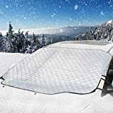 UBEGOOD Car Windshield Snow Cover, Car Windshield Cover for Snow, Ice, Sun, Frost Defense with 4 Layers Protection, Extra Large Waterproof Windshield Cover Fits for Most Cars, SUVs and Trucks