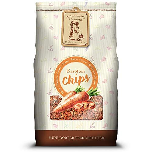 Mühldorfer Karotten Chips, 3,5 kg, aus 100 % Karotten, reines Naturprodukt ohne Zusatzstoffe, Futter für alle Pferde und Ponys
