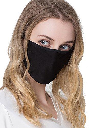 (ケイミ)KEIMI マスク 個包装 100シルク フリーサイズ おやすみマスク Silk 繰り返し使える UVカット 黒 大きめ (ブラック)