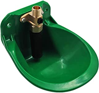 M.Z.A Automatic Waterer Bowl Goats Waterer Sheep Drinking Water Bowl Livestock Drinker Bowl for Piglet Cattle Dog, Green