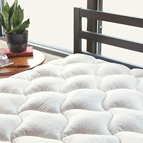 ViscoSoft Copper Mattress Pad King | Extra Plush Pillowtop Mattress Topper for Pain Relief