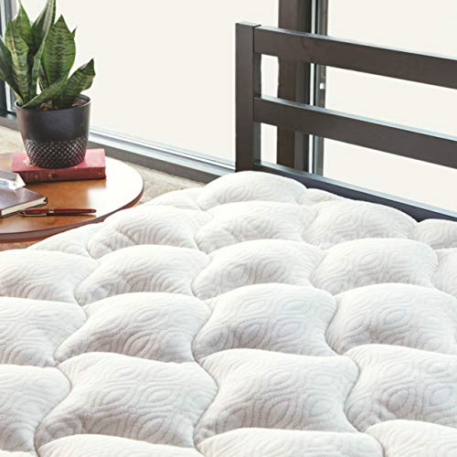 ViscoSoft Copper Mattress Pad King | Extra Plush Pillowtop Mattress Topper for Pain Relief
