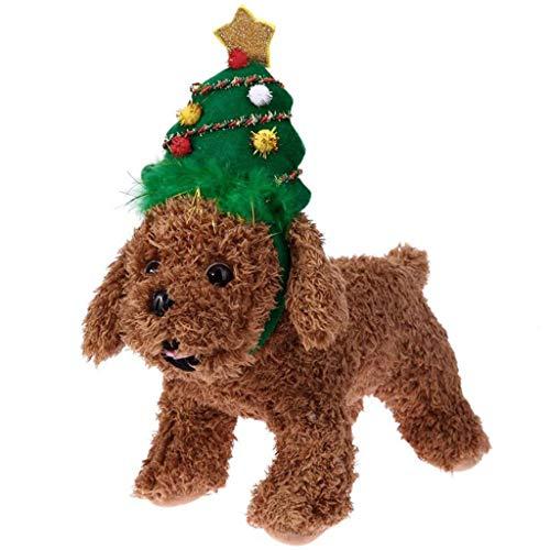 ZTGHS 2 Stücke Haustier Weihnachtsbaum Stirnbänder, Weihnachten Katze Hunde Kopfschmuck Für Cosplay Kostüm Haarschmuck Foto Requisiten Partei Liefert,L