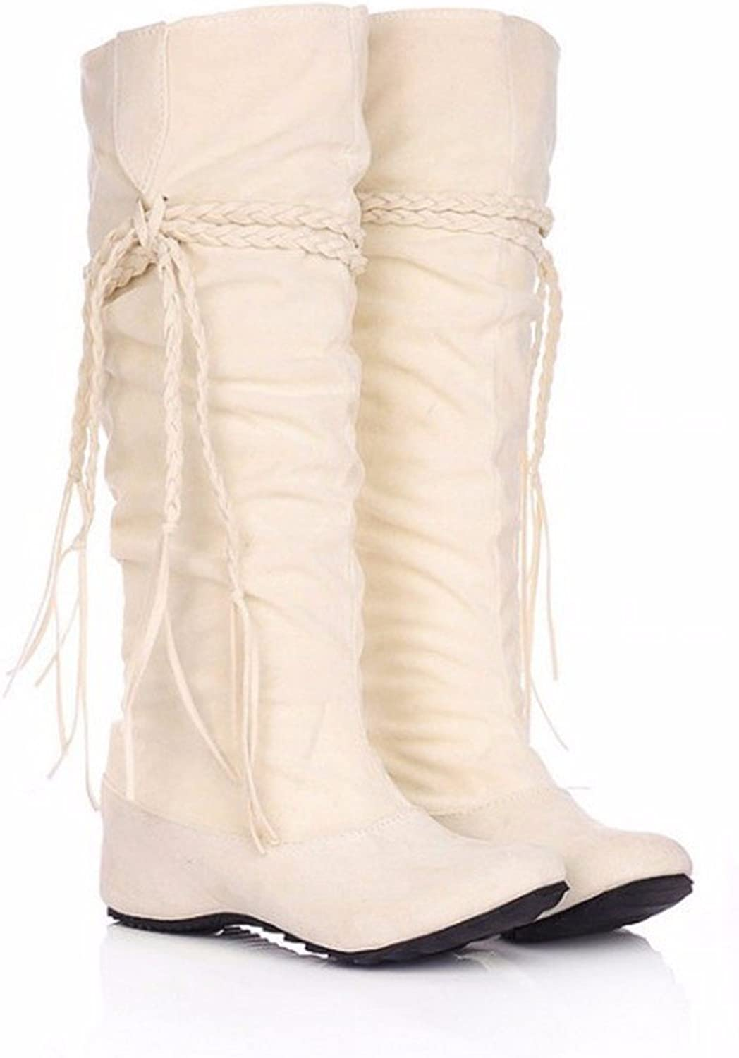 The Increase in Size of Winter Scrub Fringed Boots high Boots Students