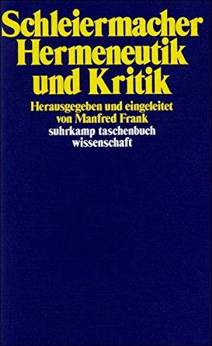 Hermeneutik und Kritik