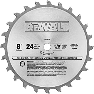 DEWALT DW7670 8-Inch 24-Tooth Stacked Dado Set