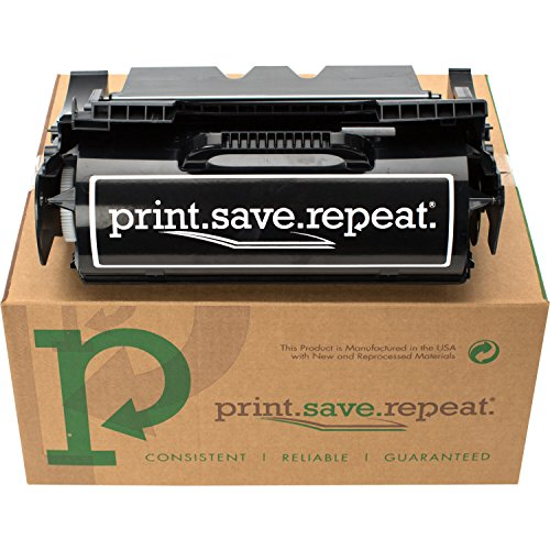 Print.Save.Repeat. Lexmark 64015HA High Yield Remanufactured Toner Cartridge for T640, T642, T644 [21,000 Pages]
